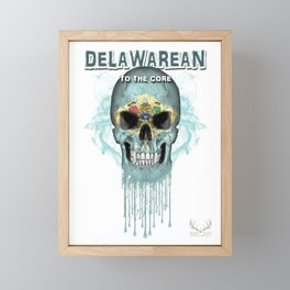 To The Core Collection: Delaware Framed Mini Art Print