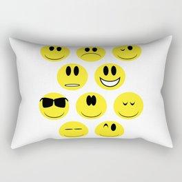 Yellow Face Emotions Rectangular Pillow
