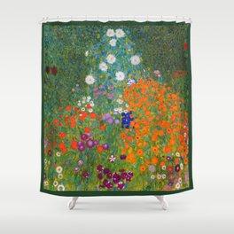 Flower Garden Bauerngarten Klimt Garden Floral Oil Painting Shower Curtain