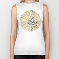 summer Biker Tanks featuring Gold Ivy by Cat Coquillette