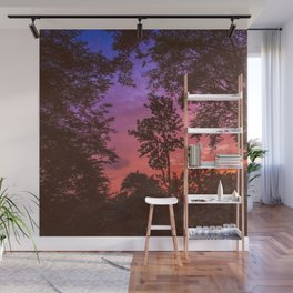 Sunset Trees Wall Mural