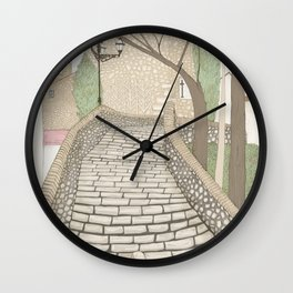 """""""LA PUENTE"""" de Alcañizo Wall Clock"""
