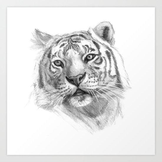 Sentimental Tiger SK118 Art Print