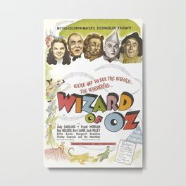 Wiz-ard of Oz Cinema Metal Print