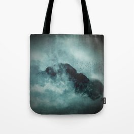On the top of the world - Mountains Dust Tote Bag