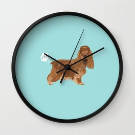 cocker spaniel funny farting dog breed gifts Wall Clock