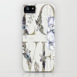 Teddy Bear Love #decor - Bagaceous iPhone Case