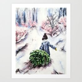My Xmas tree Art Print