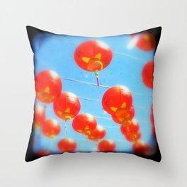Red Lanterns Throw Pillow