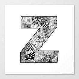 Cutout Letter Z Canvas Print