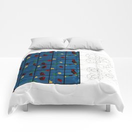 Blue Glass Comforters