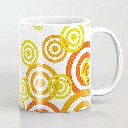Spirals yellow orange - white Background Coffee Mug
