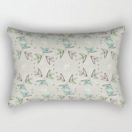Cosmic Tulips on Lunar Gray Rectangular Pillow