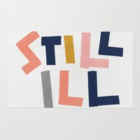 smiths Area & Throw Rugs featuring Still Ill by Anna Dorfman