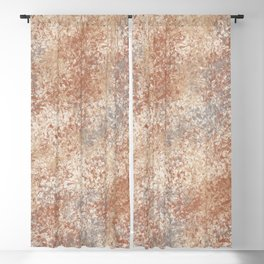 Cavern Clay SW 7701 and Abstract Distressed Chaotic Sponge Paint Pattern 2 Blackout Curtain