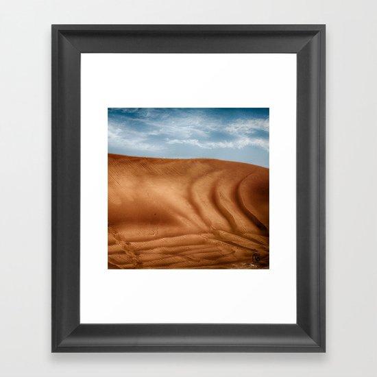 Desert Wave Framed Art Print
