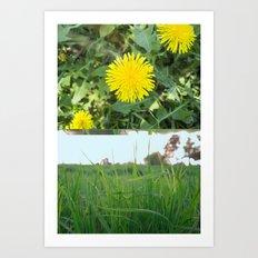 Grass Dandy Art Print