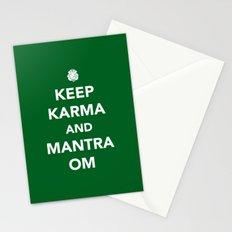 Keep Karma And Mantra Om Stationery Cards