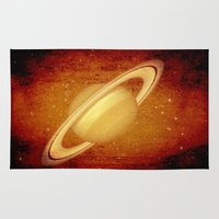 planet Area & Throw Rugs featuring Planet by Fine2art