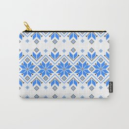 Wellspring - Star Alatyr - Ethno Ukrainian Traditional Pattern - Slavic Symbol - Blue Carry-All Pouch