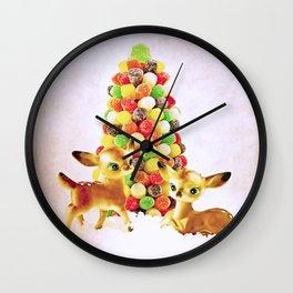 Vintage Fawns by Gumdrop Tree Wall Clock