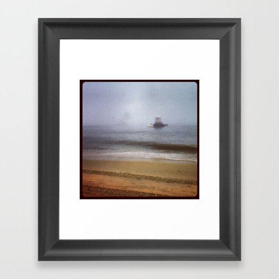 Incoming Framed Art Print