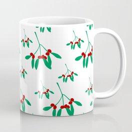 Mistletoe in White & Green 1 Coffee Mug