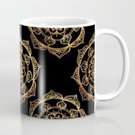 Golden Mandala Pattern Coffee Mug