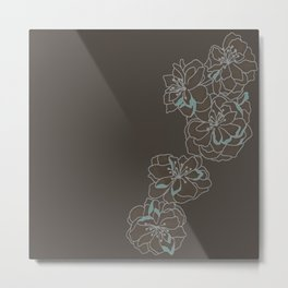 Chocolate Singular Blossom Metal Print
