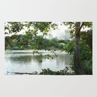 central park Area & Throw Rugs featuring Central park by ChaunceyInk