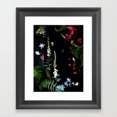 Foxgloves, Ferns and Long-tailed Tits Framed Art Print