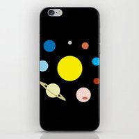 solar system iPhone & iPod Skins featuring Solar System by fairandbright