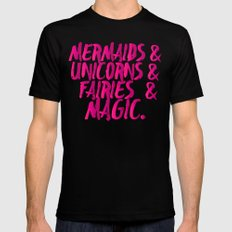 The Magical Creatures MEDIUM Black Mens Fitted Tee