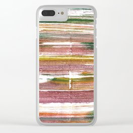 Light taupe abstract watercolor Clear iPhone Case