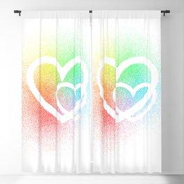 Rainbow Hearts Blackout Curtain