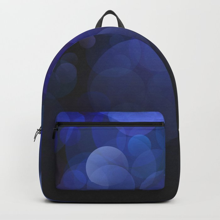 Blue Circles abstract design Backpack