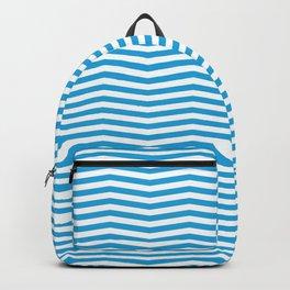 Oktoberfest Bavarian Blue and White Chevron Stripes Backpack