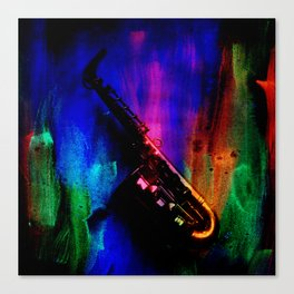 Midnight Sax Canvas Print