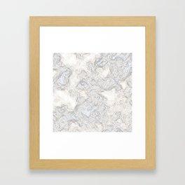 Paper Marble Framed Art Print