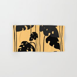 gold and black leaves Hand & Bath Towel