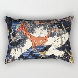 One of the portrait from the collection of portraits Portraits of an Actor by Toyohara Kunichika (18 Rectangular Pillow