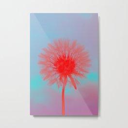 Blowing Dandelion III Metal Print