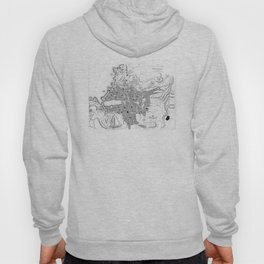 Vintage Map of Marseille France (1840) BW Hoody
