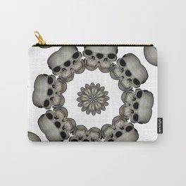 Creepy Human Skull Mandala Carry-All Pouch