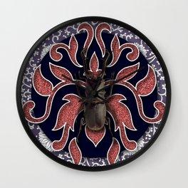 BROWN BEETLE Wall Clock