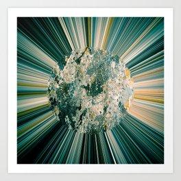 Abstract sun Art Print