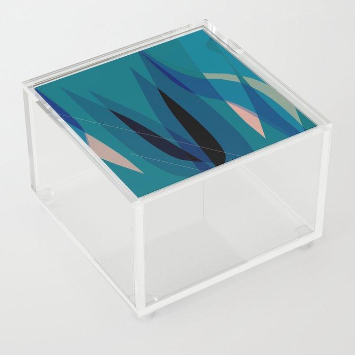 abstract tulips Acrylic Box