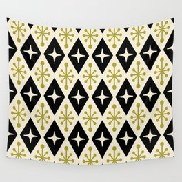 Mid Century Modern Atomic Triangle Pattern 123 Wall Tapestry