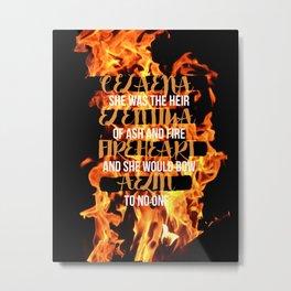 The Names of Aelin Metal Print