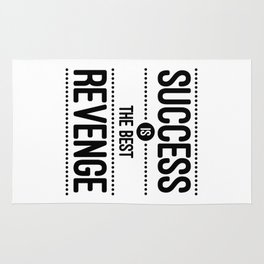 Success Is The Best Revenge (White) Quote Rug